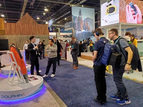 云洲智能水面救生机器人参加美国CES展 展示水上救援智能化创新