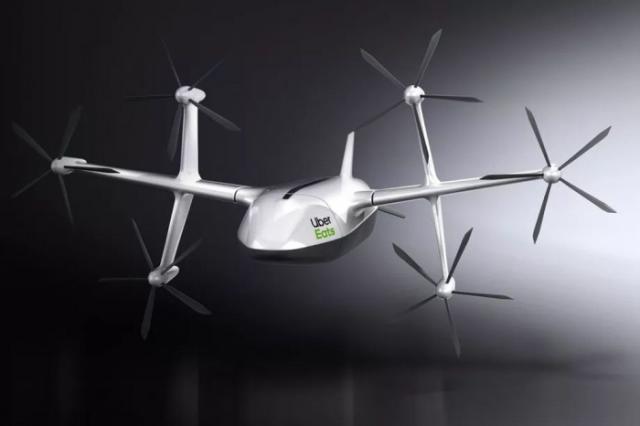 Uber外卖无人机设计图公布 2020年圣地亚哥运行