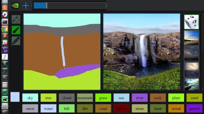 小画家涂鸦变现实风景相 Nvidia 最新「GauGAN」AI 技术