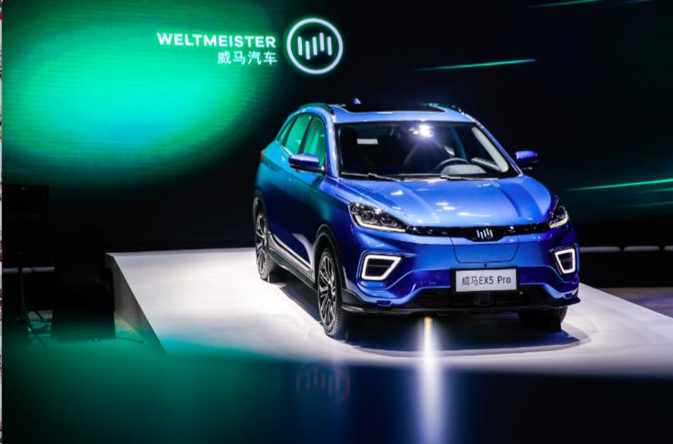 运动型纯电SUV威马EX5 Pro首发上市,四大新车矩阵齐亮相 | 2019上海车展