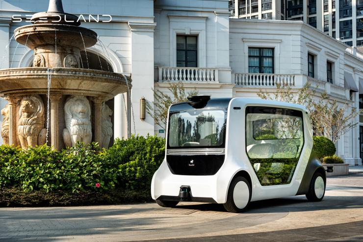 跨界落地无人驾驶通勤车,实地集团助力智慧社区