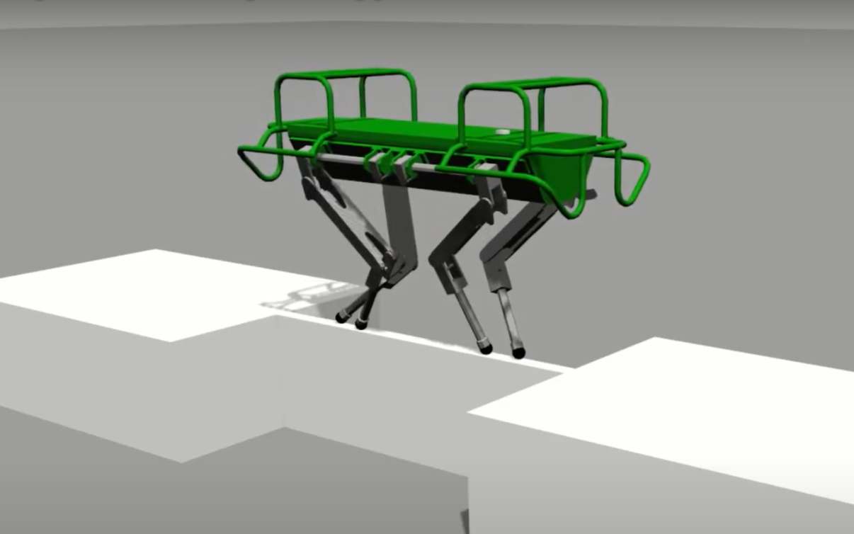 四足机器人新研究:用双脚也能保持平衡