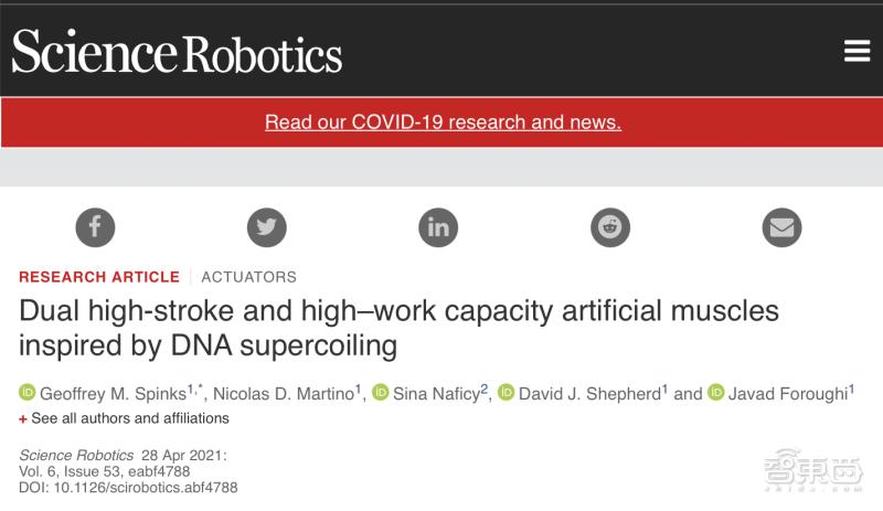 人造肌肉登顶刊!模拟DNA超螺旋,机器人机械驱动更高效