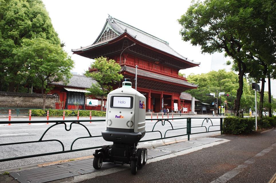 联邦快递SameDay Bot自动派送机器人RoxoTM登陆日本